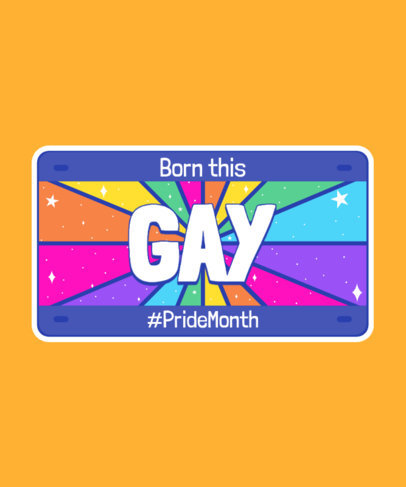 T-Shirt Design Creator with an LGBTQ Pride Quote on a License Plate 3595c