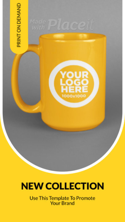 Instagram Story Video Maker with a Minimalist Style for a Mug Sale 2358a-3136-el1