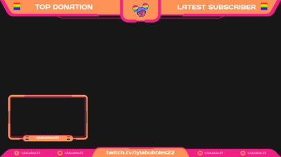 Twitch Overlay Template for an LGBTQ-Supportive Streamer 3588b