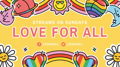 Colorful Twitch Banner Generator for LGBTQ Streamers 3586f