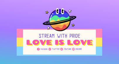 Twitch Banner Generator Featuring a Colorful Planet Icon 3590e