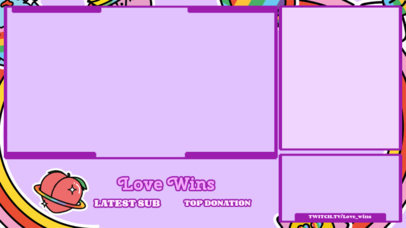 LGBT-Themed Twitch Overlay Template with a Peachy Graphic 3586d