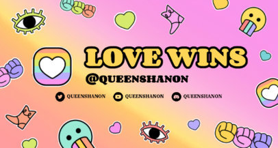 Fun Twitch Banner Maker For An LGBTQ Gaming Streamer 3587a