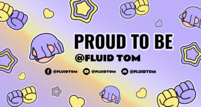 Pride-Themed Twitch Banner Creator for a Non-Binary Gamer 3587h