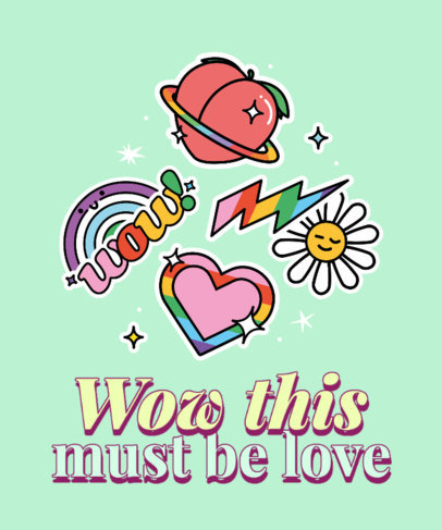 Quote T-Shirt Design Generator With an LGBTQ Theme and a Sticker Set 3602e