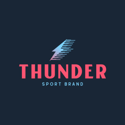 Clothing Logo Maker for a Sports Brand Featuring a Minimal Icon 4249e