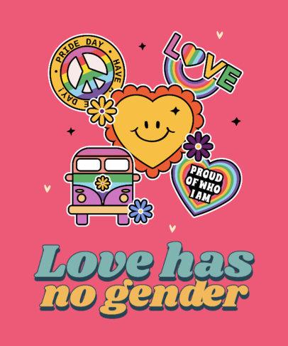 T-Shirt Design Generator Featuring LGBTQ Pride Stickers 3602b