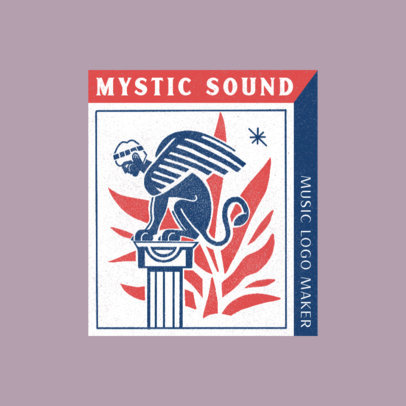 Logo Maker for Indie Music Projects Featuring a Winged Sphinx Graphic 4258f