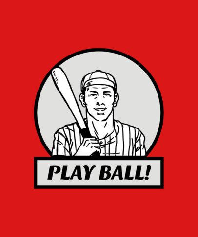 Retro Baseball Tee Design Maker 13a