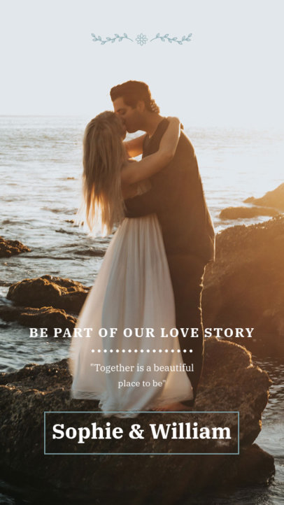 Online Instagram Story Maker with a Wedding Photograph 3634e-el1