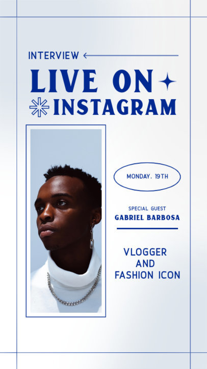 Instagram Story Maker to Announce a Live Interview With a Fashion Icon 3830d-el1
