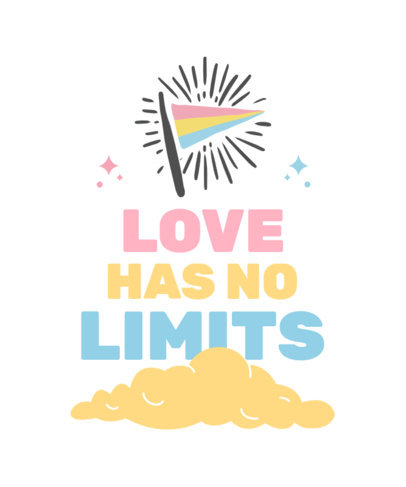 LGBT T-Shirt Design Creator with a Quote and a Flag Icon 3832b-el1
