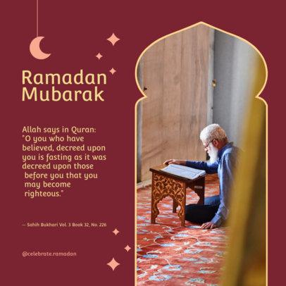 Instagram Post Generator for Ramadan Featuring Pictures and Quotes 3879c-el1