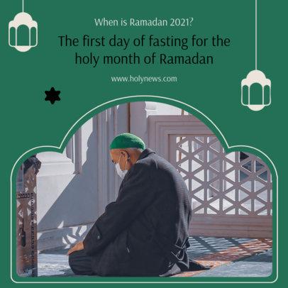 Instagram Post Template Featuring Ramadan Lanterns 3883b-el1