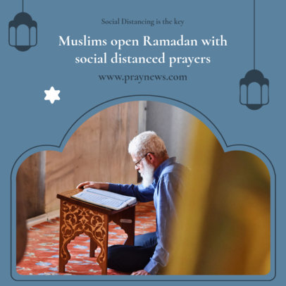 Ramadan-Themed Instagram Post Maker with a Fact About Praying 3883f-el1