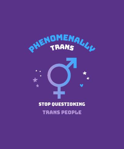 Quote T-Shirt Design Generator Empowering Gender Identities 3834c-el1