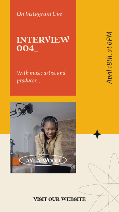 Instagram Story Maker for a Live Interview with a Music Producer 3822a-el1