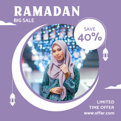 Ramadan-Themed Instagram Post Design Generator for a Limited Time Offer 3881e-el1
