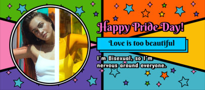 Facebook Cover Maker for LGBT Pride Day Featuring a Bright Color Palette 3607h