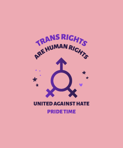 Simple T-Shirt Design Maker with a Quote About Trans Rights 3834a-el1