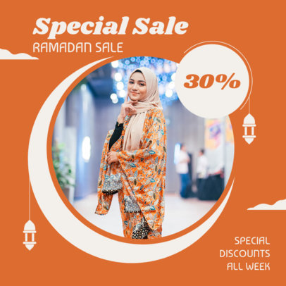 Instagram Post Maker to Announce a Ramadan Special Sale 3881g-el1