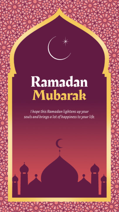 Ramadan-Themed Instagram Story Template Featuring a Quote 3613a