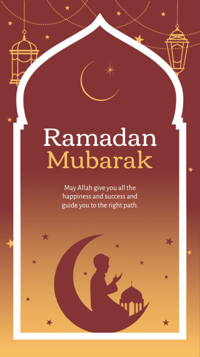 Quote Instagram Story Design Maker with a Ramadan Theme 3613g