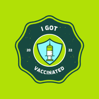 T-Shirt Design Generator with an I Got Vaccinated Sticker Graphic 4281B