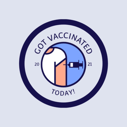 Illustrated T-Shirt Design Generator Featuring a Person Getting a Vaccine 4281E