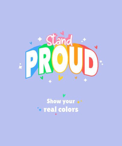 T-Shirt Design Maker With an Colorful LGBT Pride Quote 3840c-el1