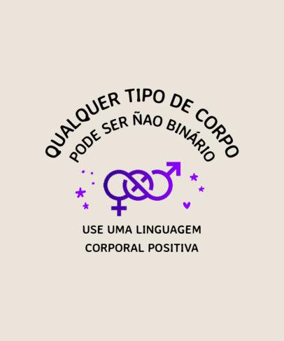 LGBTQ T-Shirt Design Creator with a Portuguese Supportive Quote 3834b-el1