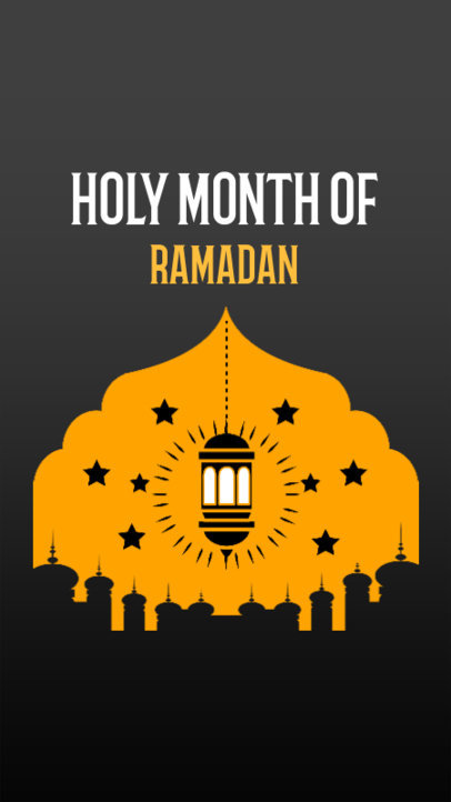 Ramadan-Themed Instagram Story Template Featuring a Lighted Lantern Clipart 3614g