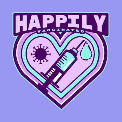 Coronavirus-Themed T-Shirt Design Maker Featuring a Vaccine Sticker 4280b