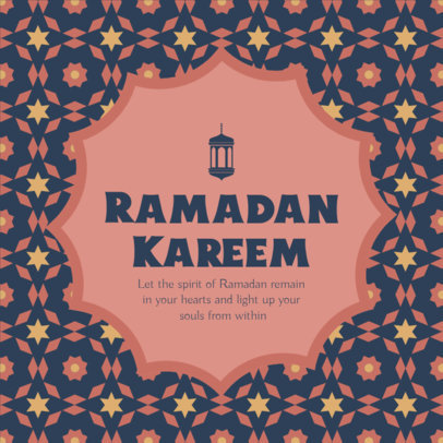Instagram Post Maker with a Ramadan Quote Featuring an Illustrated Pattern 3611c