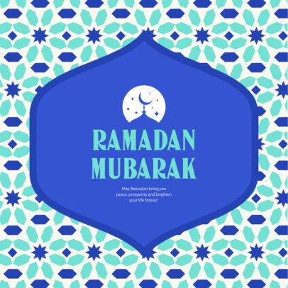 Instagram Post Generator with an Illustrated Ramadan Pattern 3611a