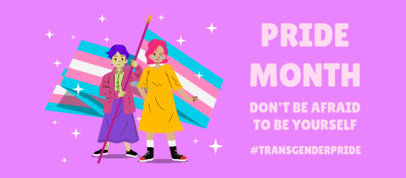 Pride Month-Themed Facebook Cover Design Maker with an Inspiring Quote 3610a