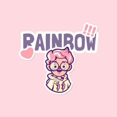 Fun Twitch Emote Logo Generator Featuring LGBT Characters and Stickers 4284e