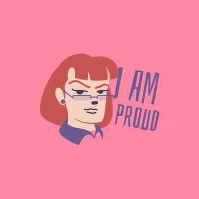 Pride Month-Allusive Twitch Emote Logo Maker Featuring a Serious Character 4287g