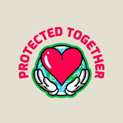 Medical Awareness T-Shirt Design Creator Featuring a Healthy Heart Illustration 4278h