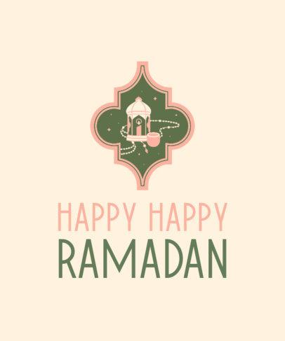 T-Shirt Design Maker for Ramadan Featuring a Lantern Clipart 3615g