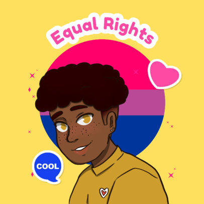 LGBT Twitch Emote Logo Creator Featuring a Bisexual Character 4286r