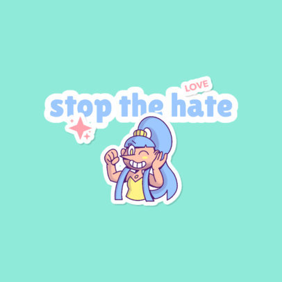 Twitch Emote Logo Template for Pride Month Featuring a Steven Universe-Inspired Character 4284i
