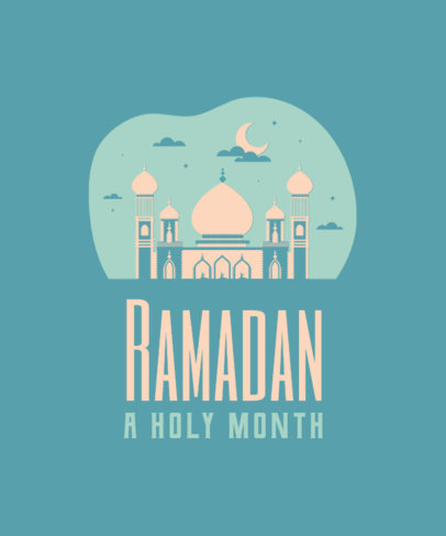 T-Shirt Design Maker Featuring Ramadan-Themed Quotes and Illustrations 3615d