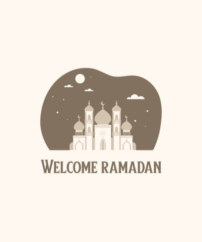 Monochromatic T-Shirt Design Generator for Ramadan 3615f