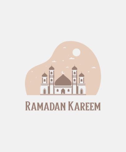 Simple T-Shirt Design Template for Ramadan Month 3615h