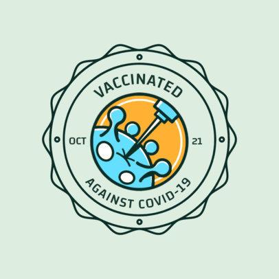 T-Shirt Design Maker Featuring a Coronavirus Vaccine Illustration 4281g