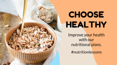 YouTube Thumbnail Design Template Featuring Healthy Nutrition Tips 3632
