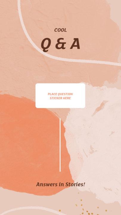 Instagram Story Maker for a Q&A Session Featuring a Pastel Color Palette 3854c-el1