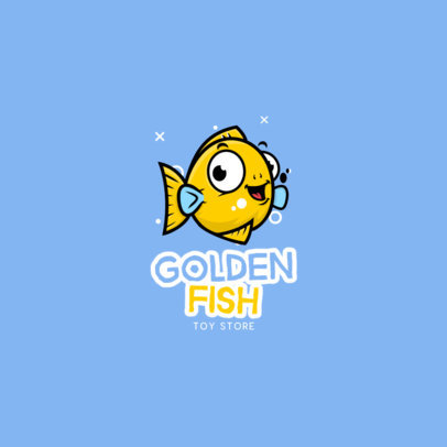 Logo Maker for a Toy Store Featuring a Golden Fish Graphic 3872f-el1