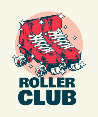 Roller Skating-Themed T-Shirt Design Template with Bold Illustrations 3630